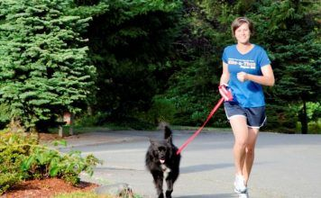 running with your dog.
