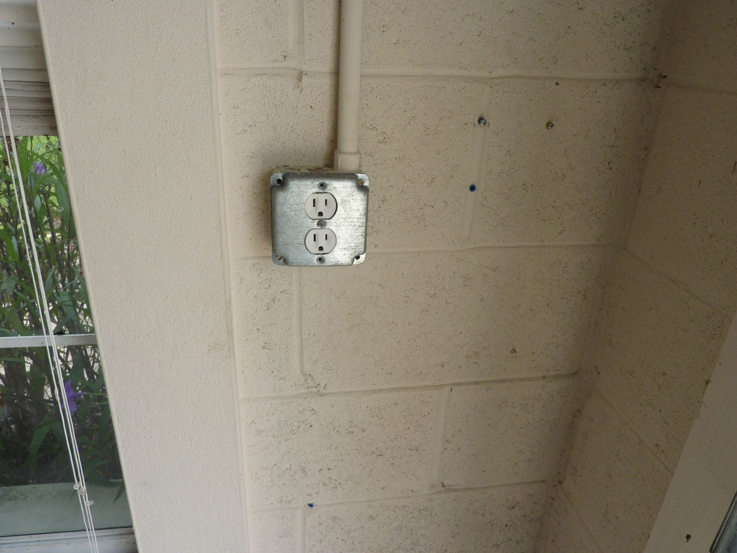indoor garage receptacle