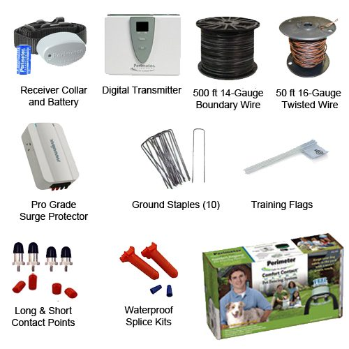 Perimeter Ultimate Dog Fence Pro-Grade Kit Includes
