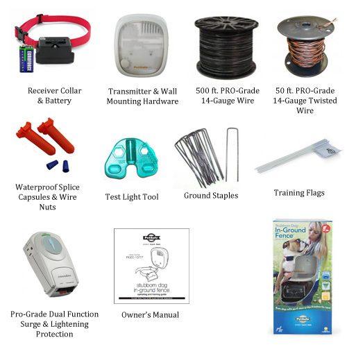 PetSafe Stubborn Dog Pro-Grade Kit Includes