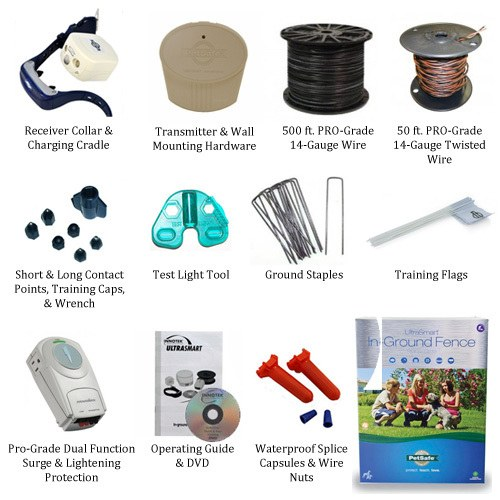 PetSafe UltraSmart PRO-Grade Kit Includes