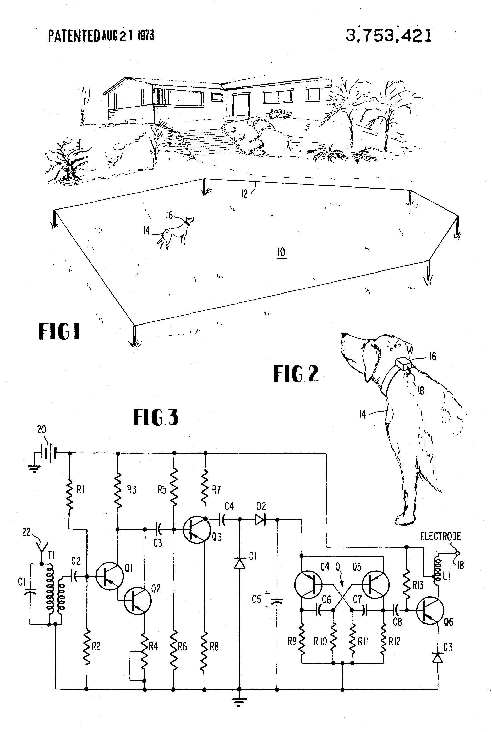 invisible fence patent